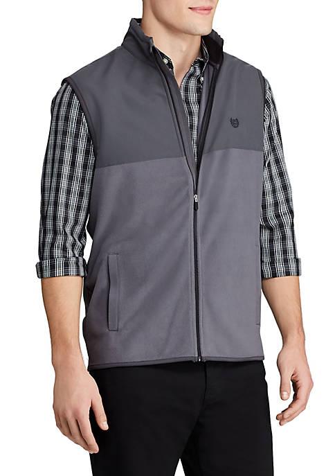 Chaps Mens Full Zip Microfleece Vest
