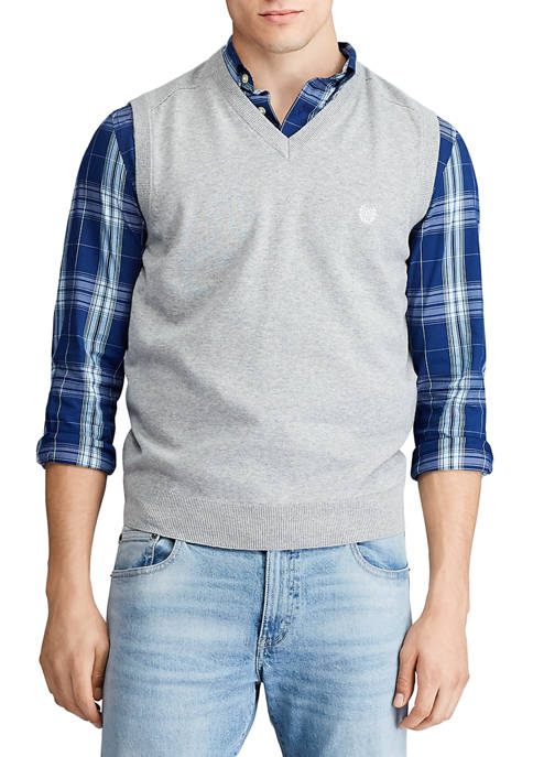 Chaps Mens Cotton Sweater Vest