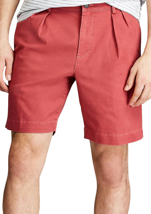 Chaps Coastland Wash Pleated Shorts