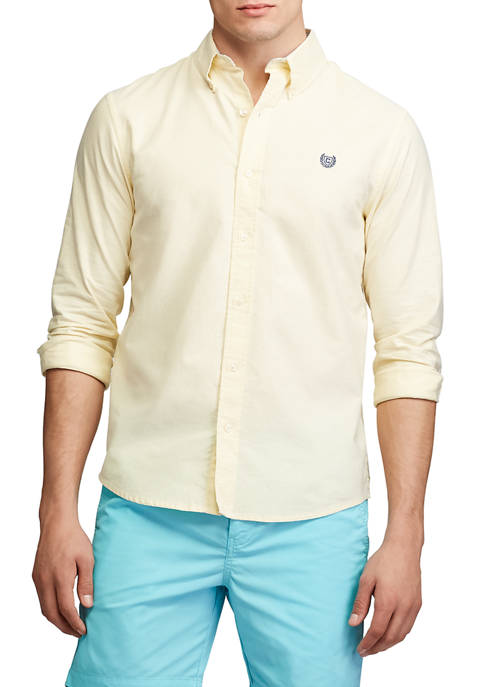 Chaps Mens Go Untucked Stretch Oxford Shirt