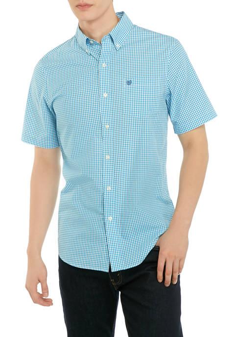 Chaps Mini Gingham Check Button Down Shirt