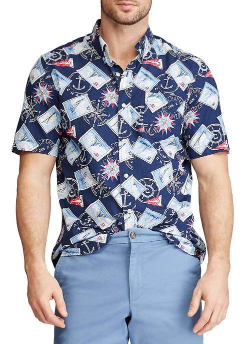 Chaps Performance Short Sleeve Easy Care Button Down