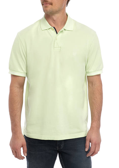 Chaps Short Sleeve Lime Piqué Polo Shirt