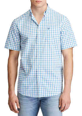 Shirt,Checkered,Colorful Fresh Summertime Pattern Design Gingham Plaid Striped Traditional Picnic Multicolor S-XXL Mens Short Sleeve Tops
