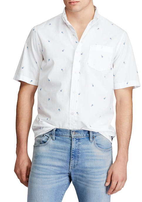 Short Sleeve Easy Care Button Down Shirt