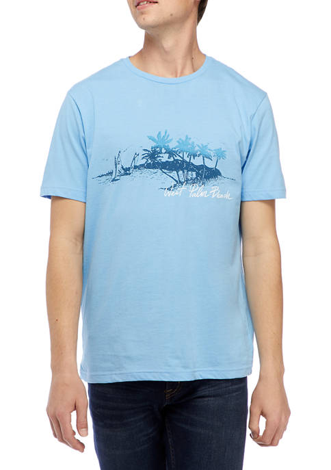 Chaps Short Sleeve Island Graphic T-Shirt