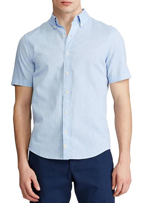 Chaps Go Untucked Short Sleeve Linen Shirt