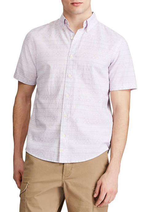 Chaps Go Untucked Short Sleeve Button Down Shirt