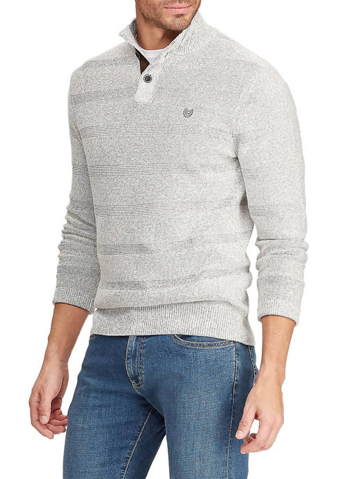 Chaps Mock Button Sweater