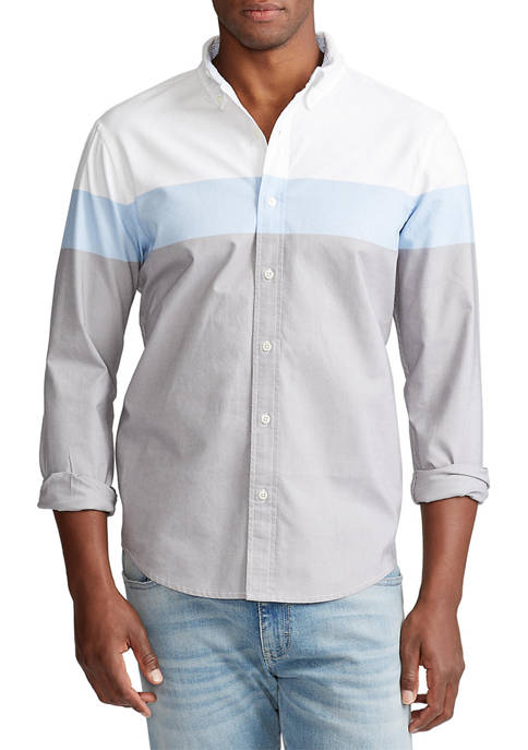 "Chaps ""Go Untucked"" Stretch Oxford Button Down Shirt"