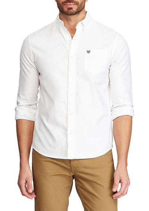 Chaps Long Sleeve Stretch Oxford Button-Down Shirt
