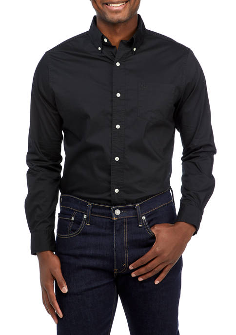 Chaps Long Sleeve Easy Care Woven Button Down