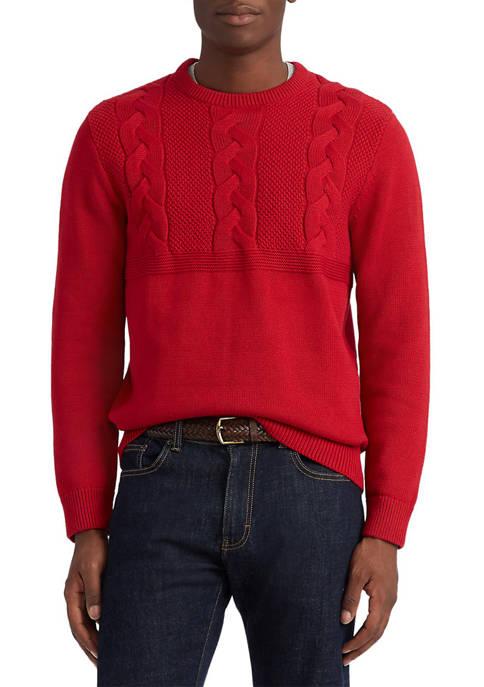 Chaps Crew Neck Cotton Sweater
