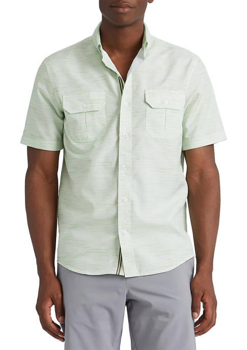 """Chaps """"Go Untucked"""" Performance Button Down Shirt"""