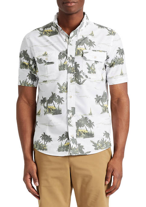 Chaps Go Untucked Performance Button Down Shirt