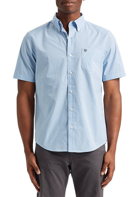 Chaps Short Sleeve Performance Button Up Shirt