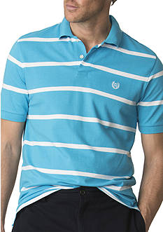 Chaps Big & Tall Striped Pique Polo Shirt