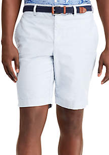 Big & Tall Stretch Oxford Flat Front Shorts