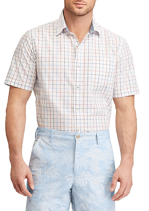 Chaps Big & Tall Checked Cotton Shirt