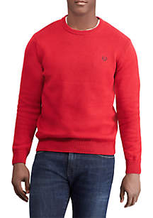 Big & Tall Solid Crew Neck Sweater