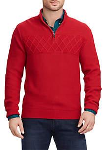 Big & Tall Textured Mock Neck Sweater