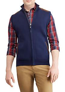 Big & Tall Mockneck Sweater Vest