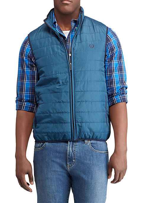 Chaps Big & Tall Packable Mock Neck Vest