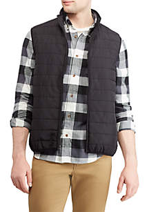 Big & Tall Packable Mock Neck Vest