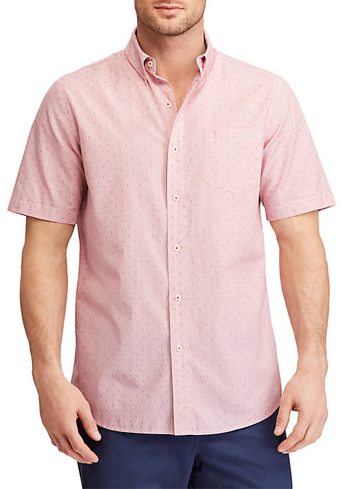 Chaps Big & Tall Striped Short-Sleeve Shirt