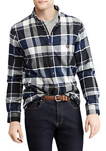 Big & Tall Plaid Performance Flannel Shirt