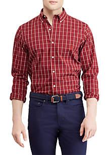 Big & Tall Easy Care Stretch Cotton-Blend Long Sleeve Shirt