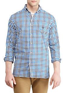 Big & Tall Stretch Cotton-Blend Long-Sleeve Shirt