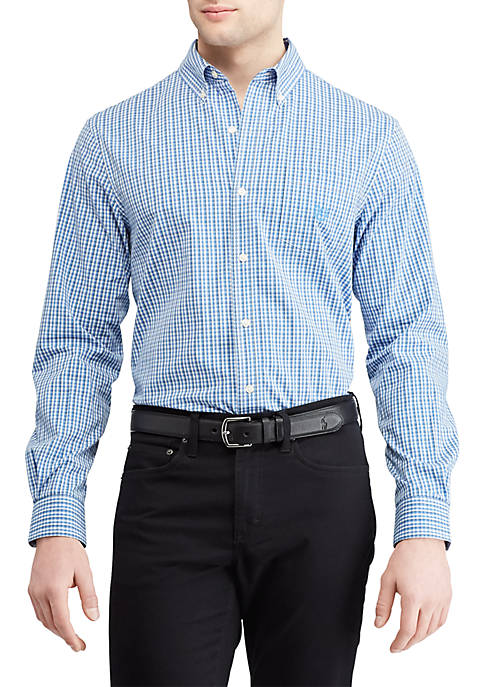 Chaps Big & Tall Long Sleeve Woven Shirt