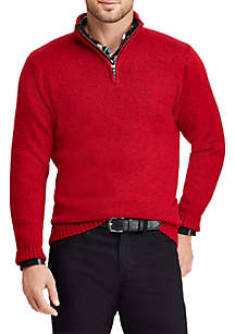Big & Tall Solid Mock Neck Sweater