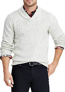 Big & Tall Shawl-Collar Sweater