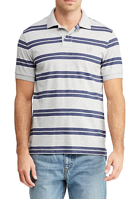 Chaps Striped Cotton Mesh Polo Shirt