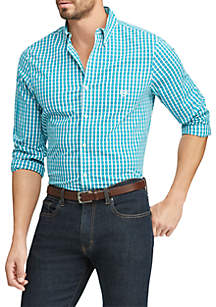 Chaps Big & Tall Easy Care Stretch Cotton-Blend Long-Sleeve Shirt