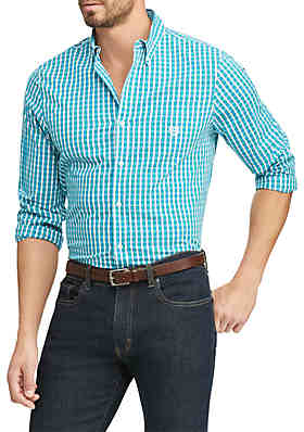 5129d06eb48 Chaps Big   Tall Easy Care Stretch Cotton-Blend Long-Sleeve Shirt ...