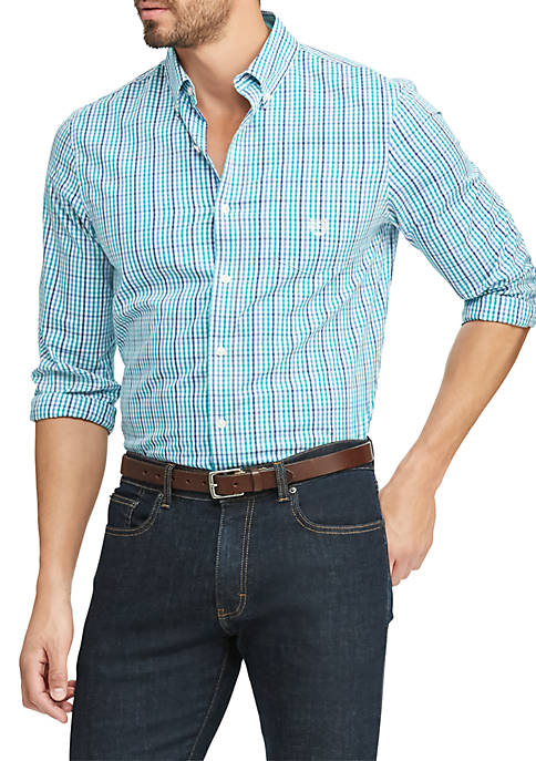 Chaps Big & Tall Easy Care Stretch Cotton-Blend