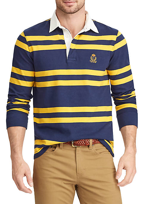 Chaps Big & Tall Heritage Collection Striped Rugby