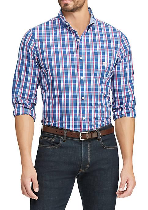 Big & Tall Easy Care Stretch Cotton-Blend Long-Sleeve Shirt