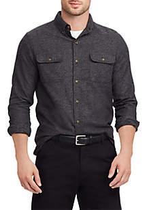 Men's Big & Tall Cotton Twill Utility Shirt