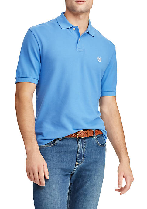 Chaps Big & Tall Cotton Mesh Polo Shirt