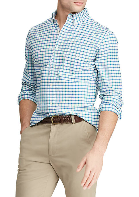 Big & Tall Long Sleeve Stretch Oxford Button Down Shirt