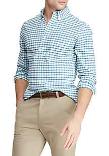 Chaps Big & Tall Long Sleeve Stretch Oxford Button Down Shirt