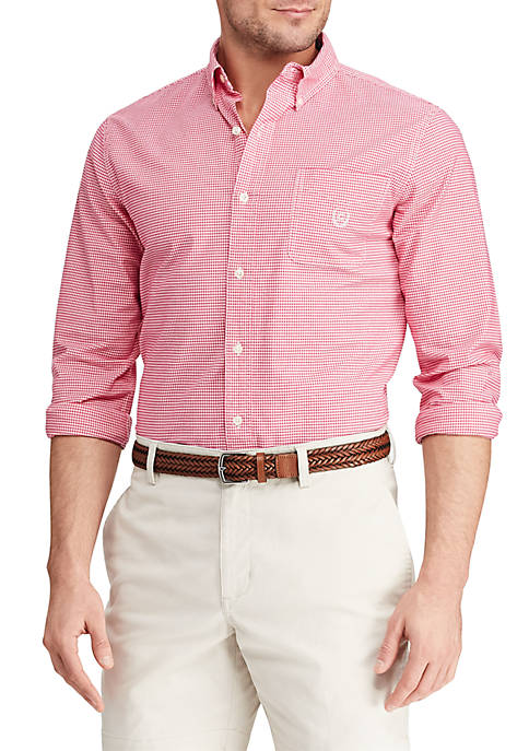 Chaps Big & Tall Long Sleeve Stretch Oxford
