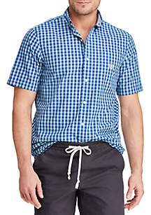 Chaps Big & Tall Short Sleeve Easy Care Button Down Shirt