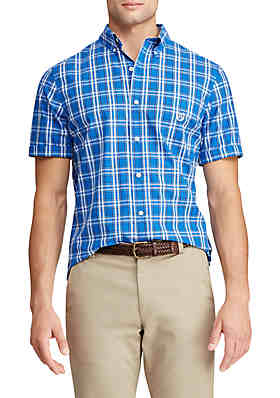 cafb480f Chaps Big & Tall Short Sleeve Easy Care Button Down Shirt ...