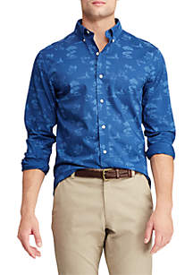 Chaps Big & Tall Long Sleeve Easy Care Button Down Shirt