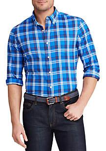 Chaps Big & Tall Long Sleeve Performance Button Down Shirt